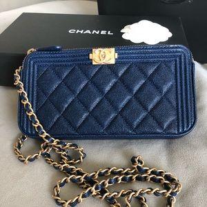 My new Chanel Boy Bag Clutch with Chain!
